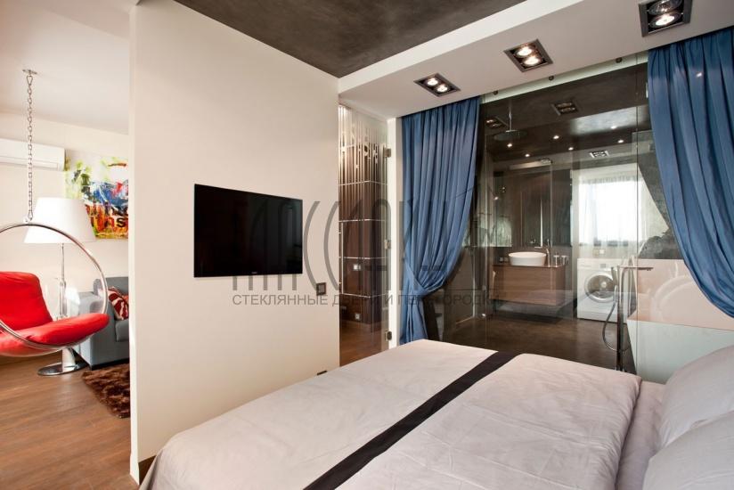 Дизайн перегородки в спальне